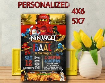 Ninjago Invitation,Ninjago Birthday,Ninjago Birthday Invitation,Ninjago Party,Ninjago Birthday Party,Ninjago Printable,Ninjago-SL203