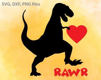 Dinosaur SVG, Boy Valentine svg, Rawr svg, Funny Valentines DXF, Dinosaur Cut File, Valentines clip art, Boy T shirt design, Valentines svg