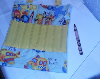 Coloring Bag for Children - Yellow w Toys (Crayons and Tablet Included)