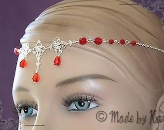 Tiara tiara wedding flower jewelry red necklace