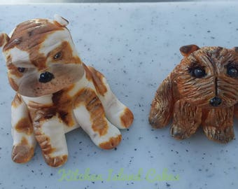 Dog Edible Fondant Cake Toppers - British Bulldog or Terrier