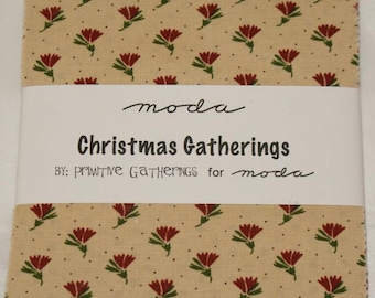 "Patchwork charm pack by moda for Christmas - ""Christmas Gatherings""."
