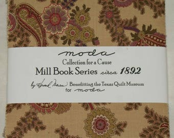 "Patchwork charm pack by moda - ""Mill Book Series 1892""."