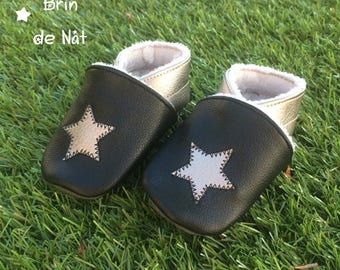 Customizable leather baby shoes