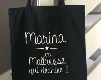Tote bag, tote bag all customizable teacher school name