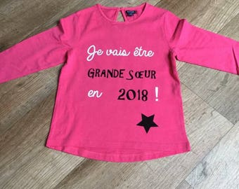 Future big sister pregnancy announcement girl t-shirt