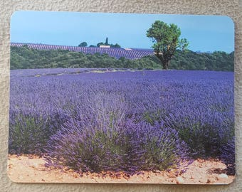 Lavender field mouse pad