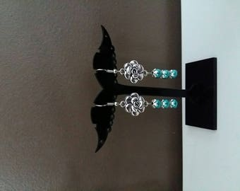 Pair of Silver Flower Earrings