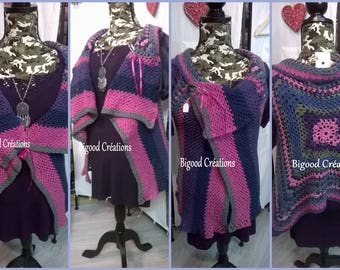 Crochet sleeveless Cardigan/jacket
