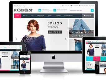 Responsive + Mobile Friendly Single / Landing Page Website Design for your Business