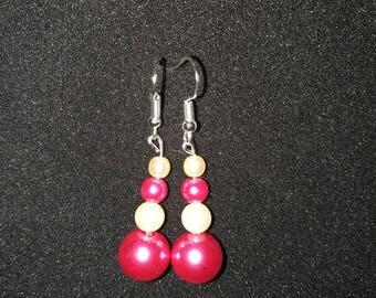 31. Pretty Pearl Dangling Earrings