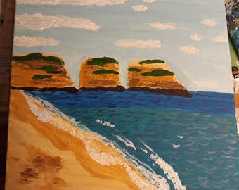 Praia da rocha, Portugal, on canvas