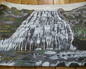 Dyandir waterfall in Iceland