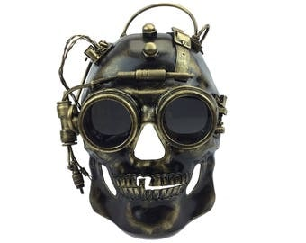 Steampunk Mad Scientist Skull Mask Masquerade Halloween Party Mask