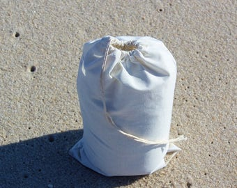 "12""x16"" Cotton Single Drawstring Muslin Bags"