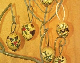 for the Christmas tree quail eggs, Easter or decorate a festive table