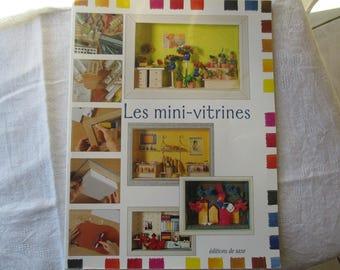 Book mini-vitrines, paper craft, sewing book