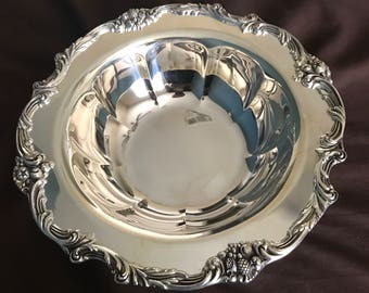 Reed & Barton 1694 King Francis | Silver Plated Serving Bowl Footed