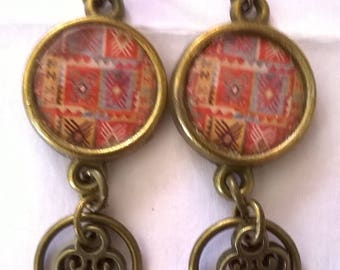 Earrings bronze earrings stunning bronze ethnic very feminine, ladies favorite