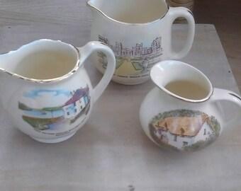Three Crown Devon Fieldings jugs