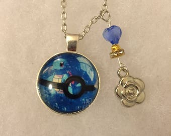 Handmade Squirtle Necklace with Charm