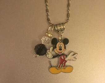 Handmade Mickey Necklace with Pendant