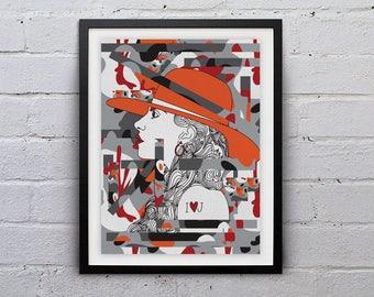 Grey Joanne (Glicée Print 24 x 16 inches / 42 x 59.4cm) - Lady Gaga - Joanne