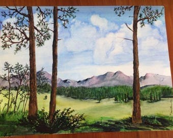 """Watercolor Landscape 9""""x12"""""""