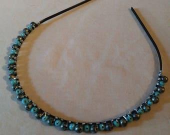 Magnasite and Acrylic Beaded Headband
