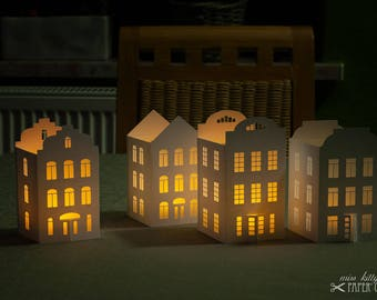 Handicraft set »Tea light lanterns 'City of Lights 1'«