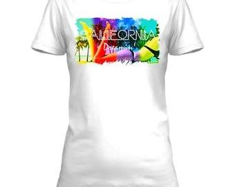California Dreamin tshirt - Womens 100% cotton premium tshirt