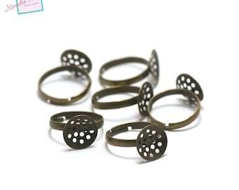 10 blank screen, bronze rings