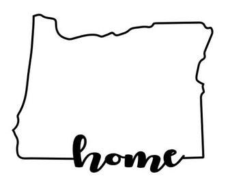 Oregon Decal Outline Home_2