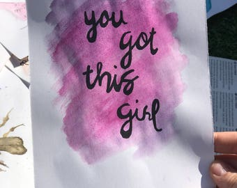 Positive quote painting