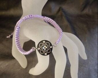 Purple macrame bracelet