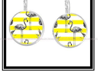 "Original ""Yellow Flamingo"" earrings"