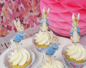 Peter Rabbit Cup Cake Toppers