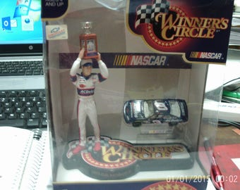 Dale Earnhardt Jr statue and #3 racing nascar