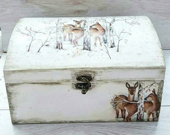Gift for hunter Deer decor Hunting gifts Wooden jewelry box Hunter gift Deer memory box Hunting decor Deer hunting Wooden box Hunting gift