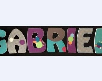 Order custom medium GABRIEL wooden letters