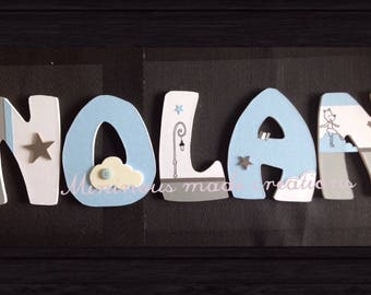 Decorated with handmade wooden name Nolan