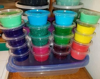 Colorful Glitter or butter slime!!