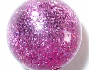 5 Pearl polaris paipolas pink glitter 12 pearls 5 mm