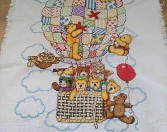 Hot air balloon and bears