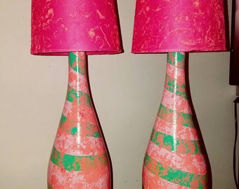 Think Pink bottle lamps