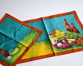 Placemat / napkin / 1960s /  / tablecloth / tablemat / Germany / vintage / boho / modern kitchen / mid century