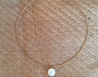 Italy Sterling silver chain with Pearl Necklace