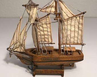 Little sailing ship model