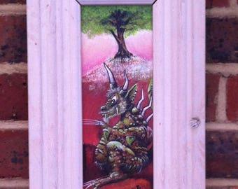 Green Monster DRAGON : Framed Painting