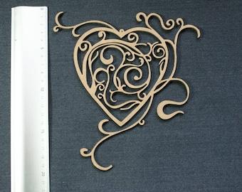 Arabesque scalloped 20 cm heart
